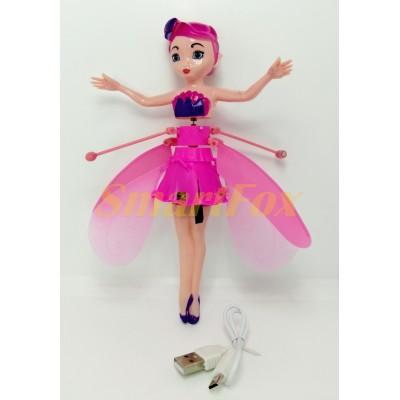 Кукла-фея светящийся летающая №8018 с LED сенсорным датчиком и подсветкой (аккумулятор)