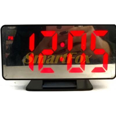 Часы настольные VST-888-1 с красной подсветкой (зеркальный дислей 7,5