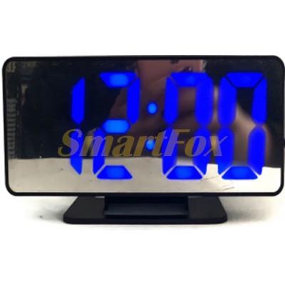 Часы настольные VST-888-5 с синей подсветкой (зеркальный дислей 7,5