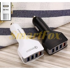 АЗУ 4USB REDDAX RDX-110 Qualcomm Quick Charge 3.0 TYPE-C WHITE