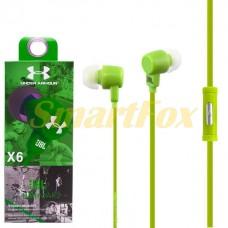 Наушники вакуумные с микрофоном X6-001