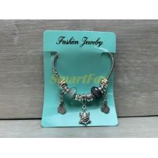 Браслет PANDORA NG-3-3 нежно-голубой с крыльями