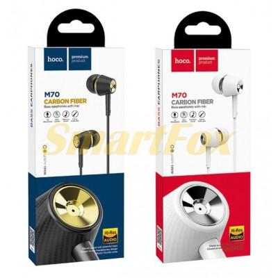 Наушники вакуумные с микрофоном HOCO M70