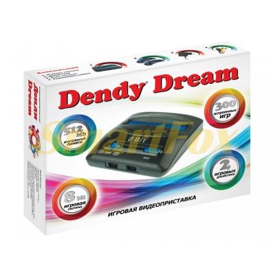 Игровая приставка 8-bit Dendy Dream + 300игр