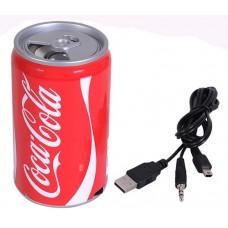 Портативная колонка Баночка USB+FM Coca-Cola
