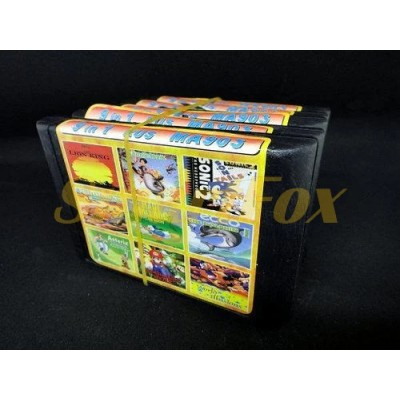 Картридж 16-bit Сборник игр для SEGA 9в1 MA-903 Lion King / Donald Maui / J.Book / Asterix Rescue /
