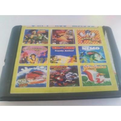 Картридж 16-bit Сборник игр 9 в 1 MA- 902 Toy Story / Jim 2 / Sonic 3 / Tom&Jerry / Finding