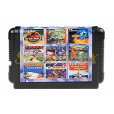 Картридж 16-bit Сборник игр Sega 9в1 MA-904 Lost World / Jim / Contra / Contra / Comix Zone / Batman