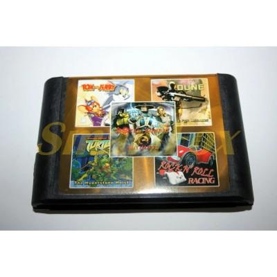 Картридж 16-bit Сборник игр на Sega 5 в 1 SB-5301