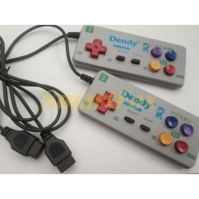 Игровой манипулятор (джойстик) Dendy 8-bit Junior Turbo с узким (9pin) разъемом прямоугольный