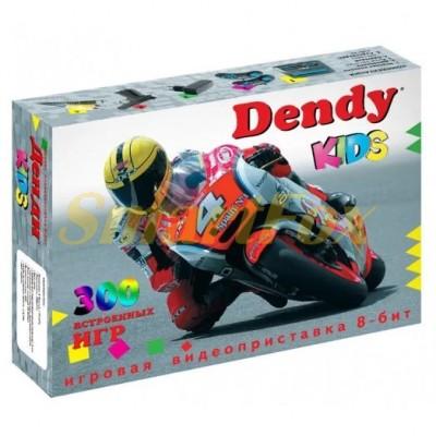 Игровая приставка 8-bit Dendy + встроенных 300 игр