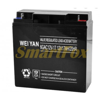Аккумулятор WEI YAN 12V 7Ah/20HR Rechargeable Seald Lead-Acid Battery (в упаковке)