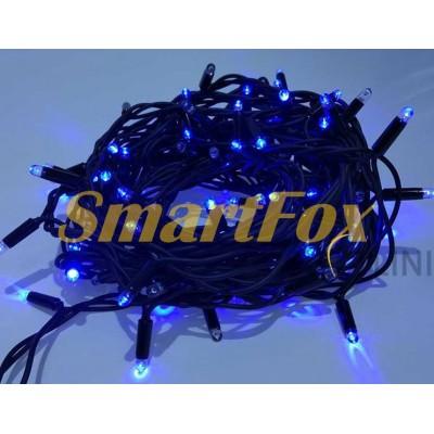 Гирлянда G-20 нить на черном проводе 200 LED ламп (синий) (15 м) (без обмена, без возврата)