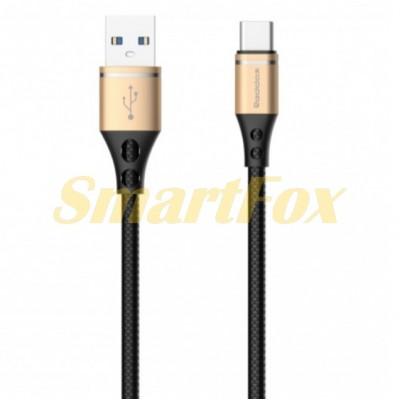 Кабель USB/TYPE-C REDDAX RDX-355 из ТРЕ пластика GOLD (1 м)