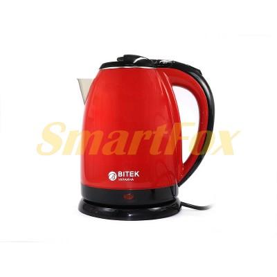 Электрочайник BITEK BT-3112 9997 нерж. 2,0л 1500Вт (красный, черный, кремовый, оранжевый)