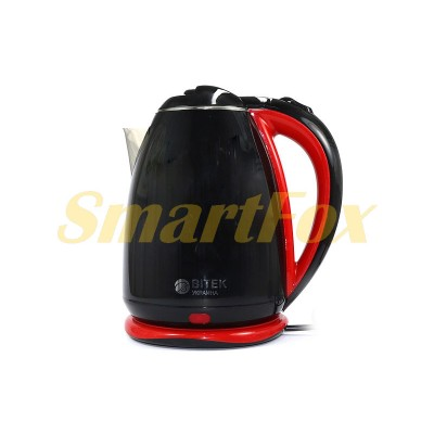 Электрочайник BITEK BT-3114 9996 нерж. 2,0л 1500Вт (красный, черный, кремовый)
