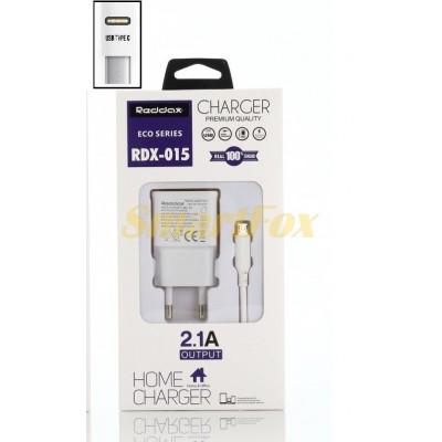 СЗУ USB 2,1A REDDAX RDX-015 с TYPE-C WHITE