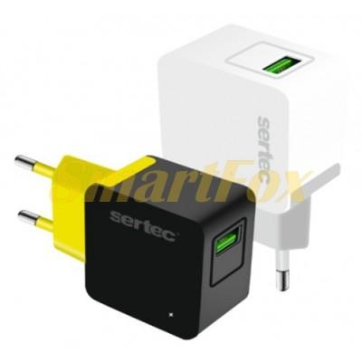 СЗУ USB SERTEC ST-1010 6W 1200mAH Fashionable CHARGER USB WHITE