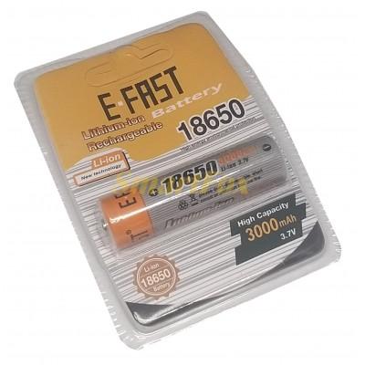Аккумулятор 18650 E-FAST 3000мАч 3,7В Li-Ion 18650-FST-01