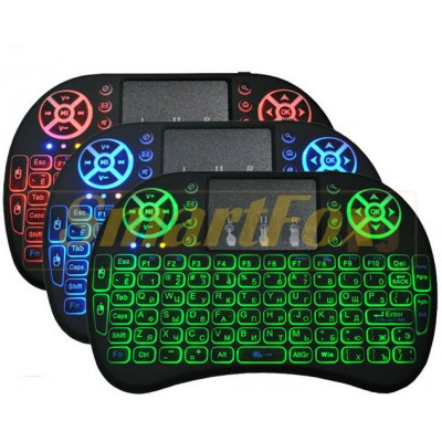 Клавиатура мини с LED подсветкой KEYBOARD-i8-LED