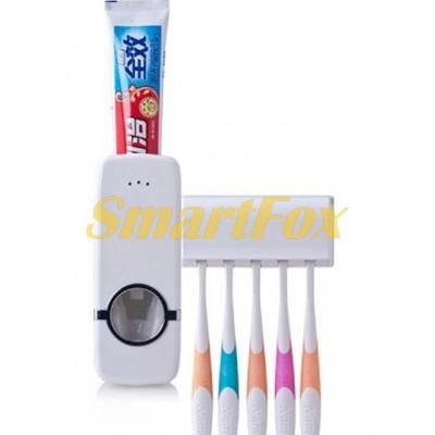 Дозатор для зубной пасты автоматический с подставкой для щеток Toothpaste Dispenser