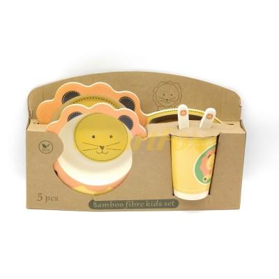 Набор детской посуды (бамбуковое волокно) SL-246-3