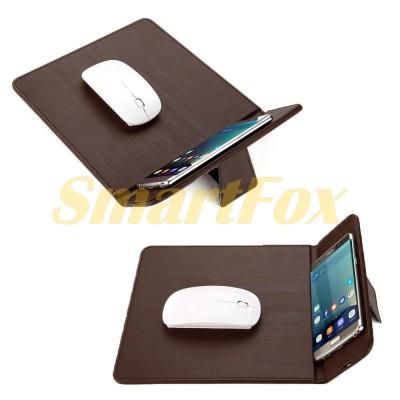 Коврик для мышки+ЗУ беспроводное+подставка для смартфона/планшета Wireless charger 3in1