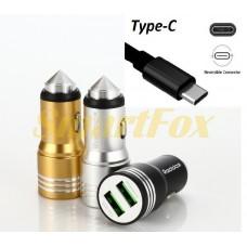 АЗУ 2USB REDDAX RDX-107 2,4A прочный алюминиевый корпус TYPE-C GOLD