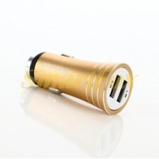 АЗУ 2USB REDDAX RDX-104 2,4A прочный алюминиевый корпус USB GOLD