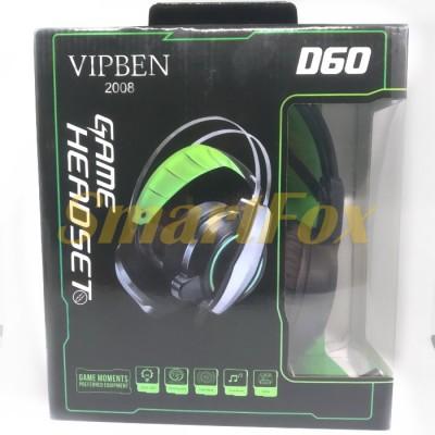 Наушники накладные с микрофоном V2000/D60 игровые