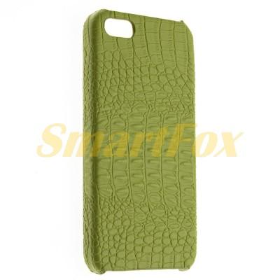 Клип-кейс PC Borofone Crocodile для Apple iPhone 5/5s/SE (Зеленый)