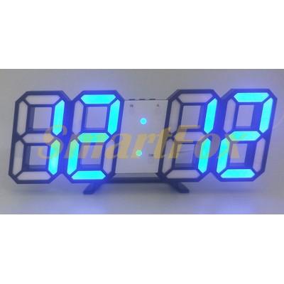 Часы настольные SL-6609 с синей подсветкой