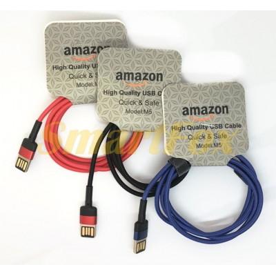 Кабель USB/TYPE-C AMAZON M5 (1 м)