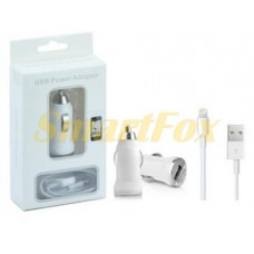АЗУ USB 2в1 + кабель USB/IPHONE 5