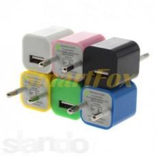 СЗУ USB 1A (кубик, цветное)