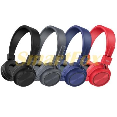 Наушники беспроводные Bluetooth HOCO W25 (черный,красный,серый,синий)