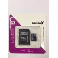 Карта памяти 4Gb Neeka microSD class 4 (с адаптером)