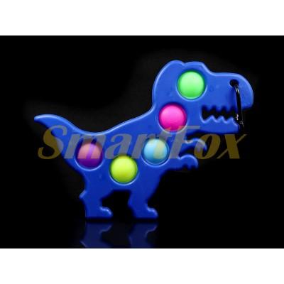 Игрушка-антистресс Pop it на жесткой основе Simple Dimple Динозавр STX-101