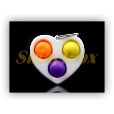 Игрушка-антистресс Pop it Simple Dimple Сердце STX-105