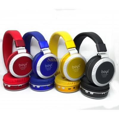 Наушники беспроводные Bluetooth BOYI 50 +эквалайзер
