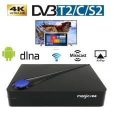 Приставка ТВ Android Tv Box Magicsee C300 Т2+спутниковое ТВ+Смарт