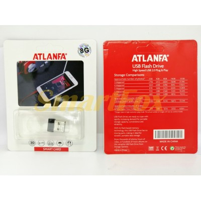Флеш память USB 2.0 4Gb ATLANFA AT-U10 в виде адаптера (1,7см)