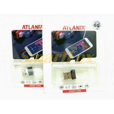 Флеш память USB 2.0 8Gb ATLANFA AT-U10 в виде адаптера (1,7см)