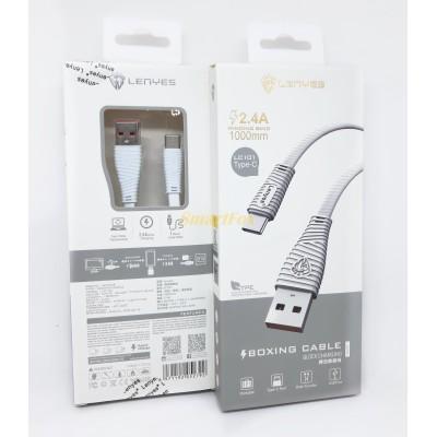 Кабель USB/TYPE-C LENYES LC101 2.4A (1 м)