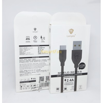 Кабель USB/TYPE-C LENYES LC768 2.4A (1 м)