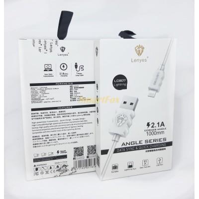 Кабель USB/IPHONE 5 LENYES LC807 2.1A (1 м)