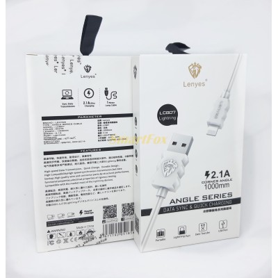 Кабель USB/Lightning LENYES LC807 2.1A (1 м)