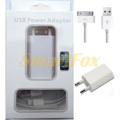 СЗУ USB 1A для IPHONE 4 (73546)