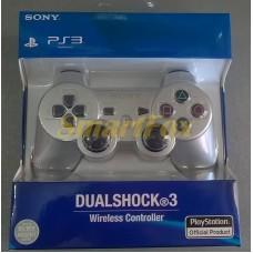 Игровой манипулятор (джойстик) PS3 беспроводной SIXAXIS Серебро