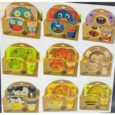 Набор детской посуды (бамбуковое волокно)  (5 предметов) без выбора картинок